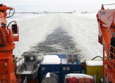 Rescue vessel spasatel karev completes ice trial photo for Bureau karev