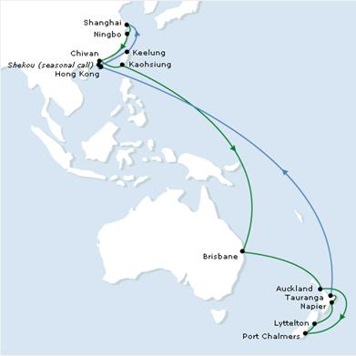 и Новой Зеландией (карта)