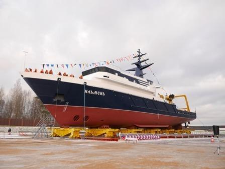 В северной столице спущено наводу новейшее океанографическое судно «Ильмень»