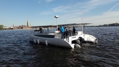ИзПетербурга в столицу Российской Федерации отправится солнечный катамаран