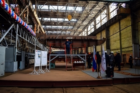 Khabarovsk Shipyard laid down yet another tugboat of Project 00440