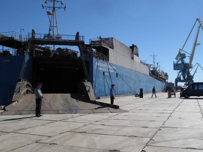 в порту Оля (Астраханская