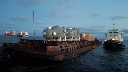 North-Western Shipping Company delivers oversize equipment to Omsk