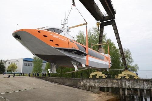 Le bureau de conception des hydroptères d'Alexeev lance son cinquième hydroptère Valdai 45R